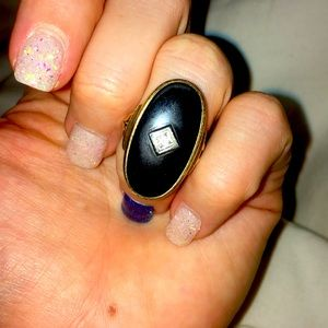 Classic vintage onyx ring size 6.5